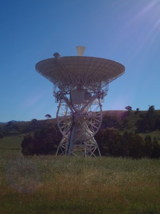 The old (now disused) tracking dish from Honeysuckle Creek