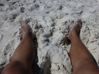 Just how white was the sand.
