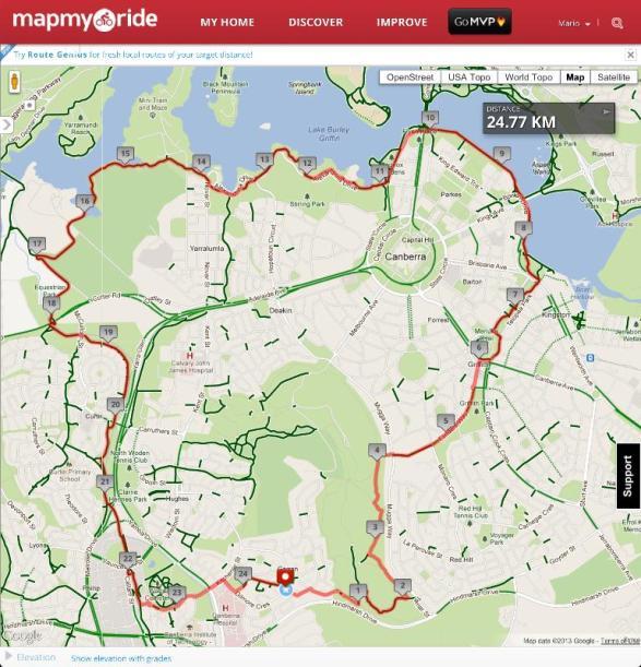 My Nemesis Route on MapMyRide.