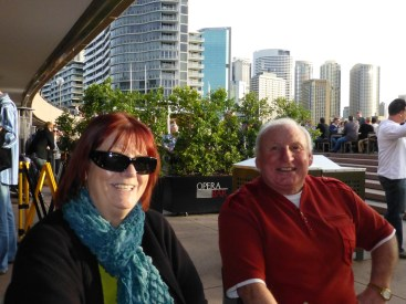 Barbara & Lawrence at the Opear House bar