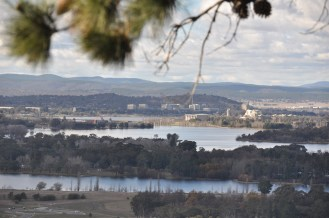 Lake Burley Griffin from the Arboretum.
