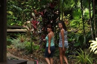 Gail and Ciara having a look around