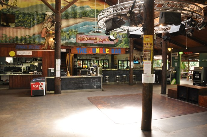 Inside the Jungle Bar at PK's