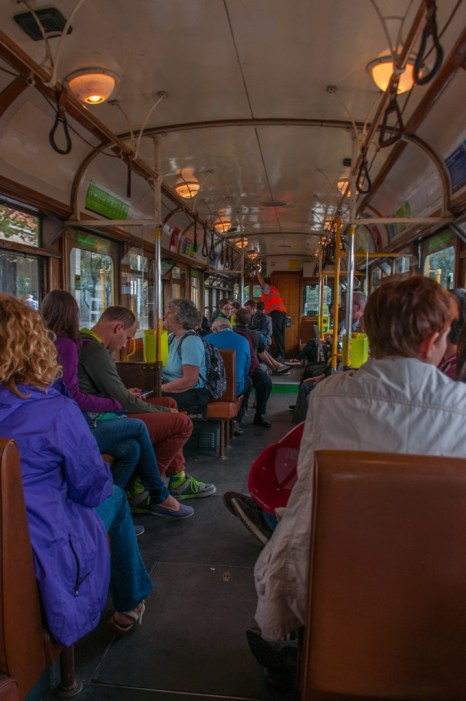 On board the free City Circuit tram.