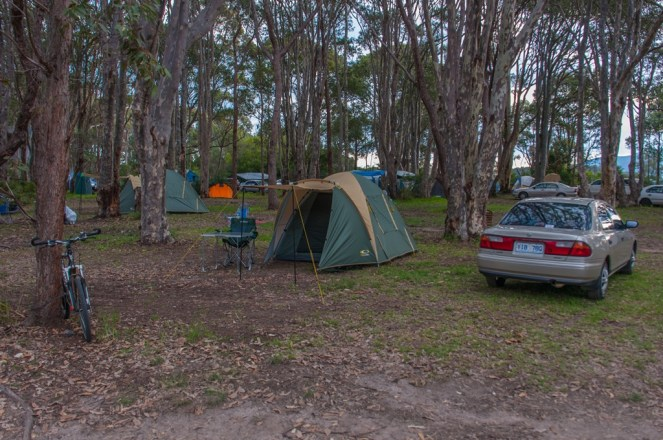 My campsite at Mystery bay