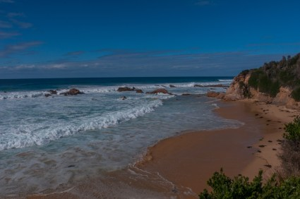 The beach at Mystery Bay