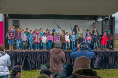 Local school kids doing their stuff on stage.