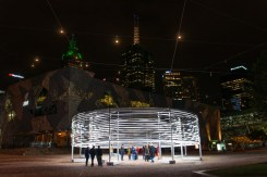 Some strange artwork in Federation Square on the way back after the match.