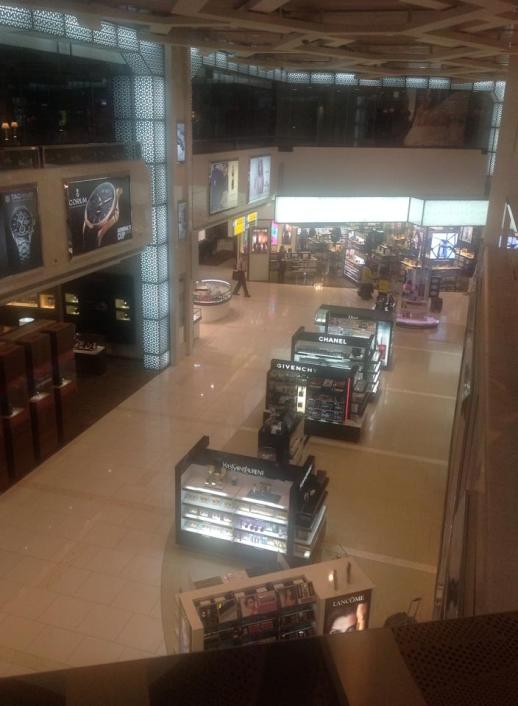 Part of the Duty Free section of the massive Abu Dhabi airport