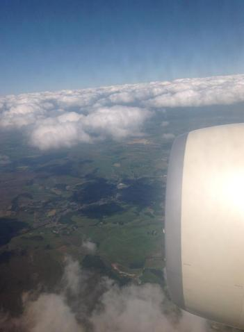 View from my window seat as we descend into Manchester.