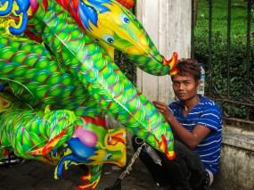 Penjual balon naga