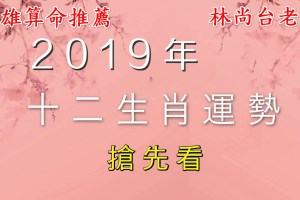 【運勢解析】高雄算命推薦 萬事可問 林尚台老師_2019年12生肖運勢