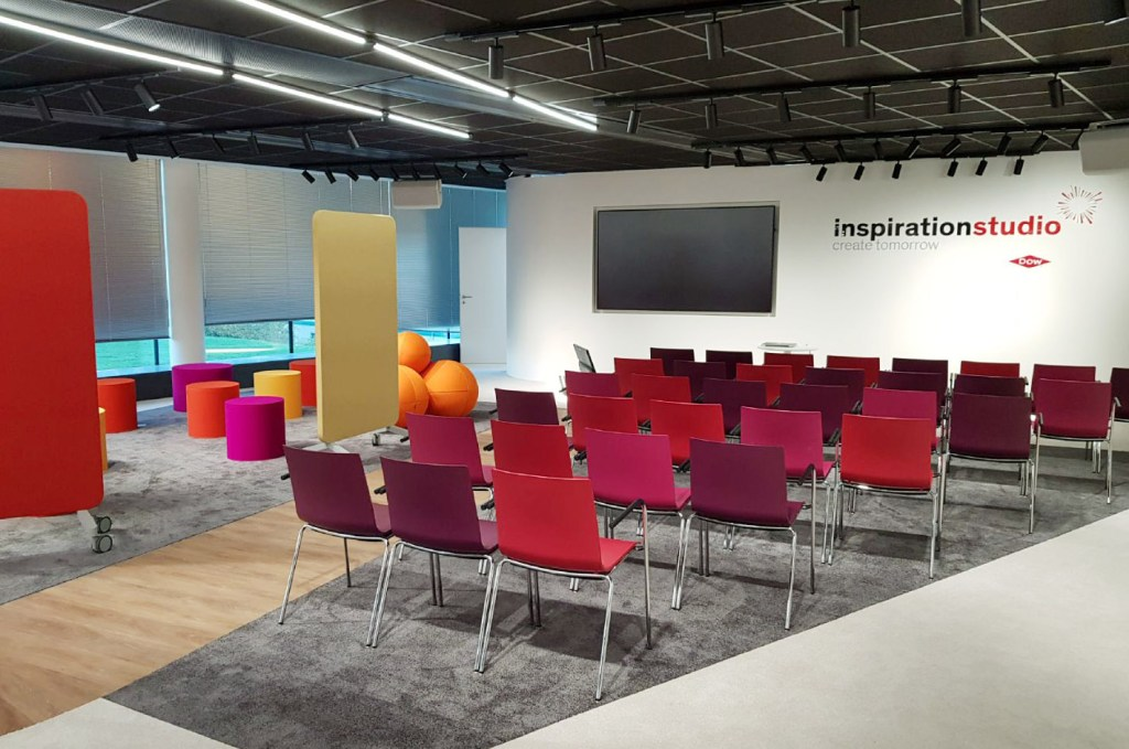 Dow's new co-creation space inspirationstudio on the Seneffe campus