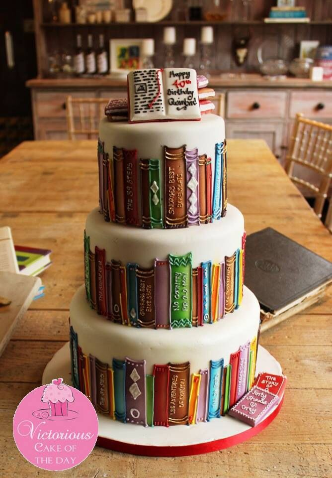 Birthday Cakes 19 Sights That Are Basically Porn For Book Lovers Yesbirthday Home Of Birthday Wishes Inspiration