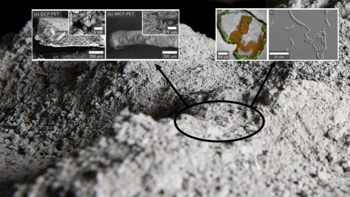Dönüştürülemeyen plastikler betonun yapısında yer buldu