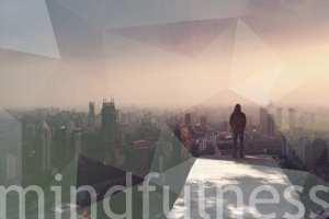 Man overlooking city mindfulness