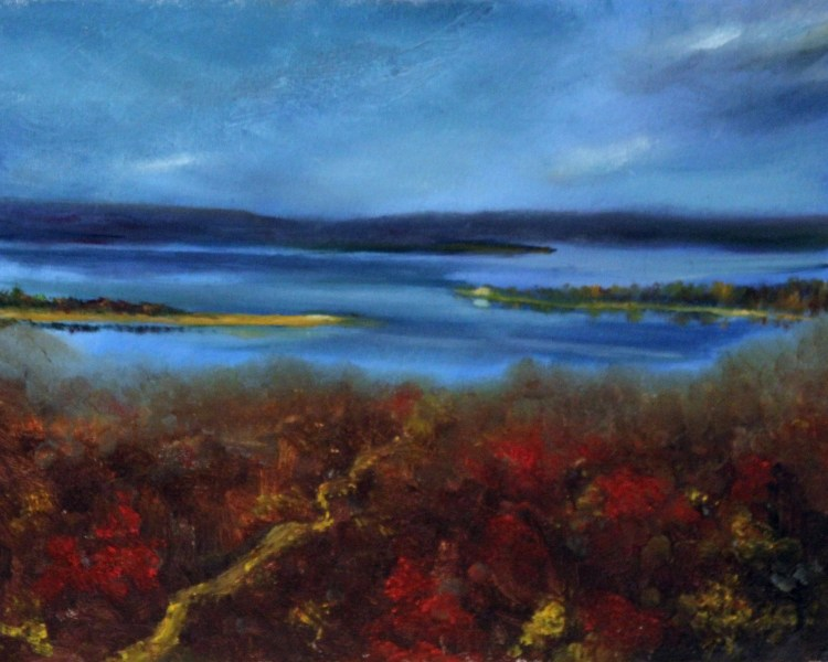 Possum Kingdom Lake Texas oil painting landscape by Yeshua's Child Art