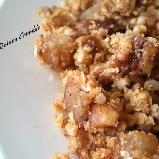 Apple Quinoa Crumble-For my dearest thatha