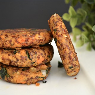 Red Quinoa and Sweet Potato Patties