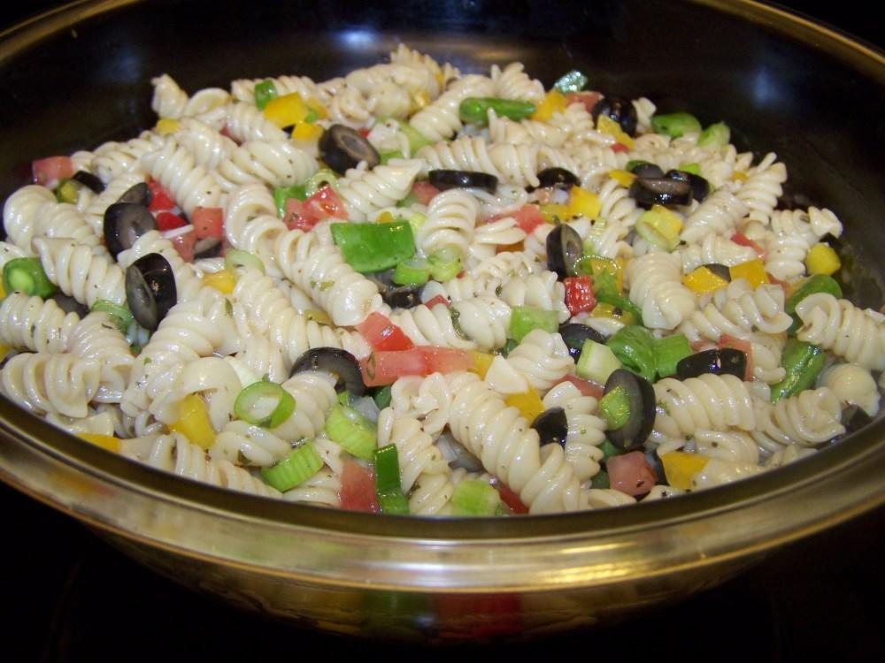 Spiral Pasta Salad with Marjoram Vinaigrette (1/2)