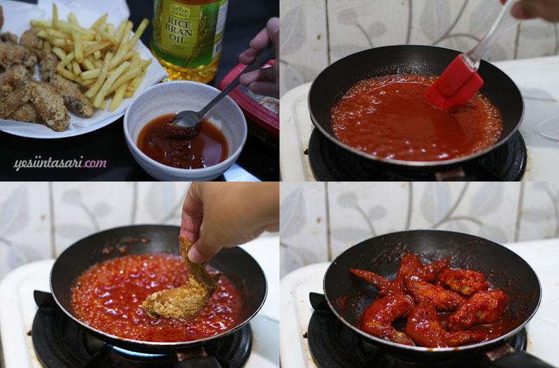 resep korean spicy chicken wing