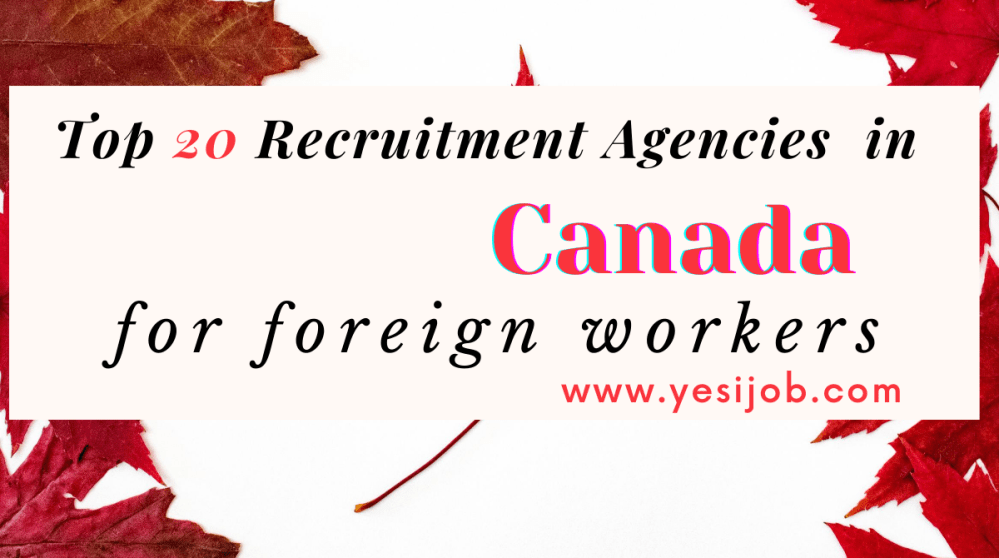 Recruitment Agencies in Canada for Foreign Workers