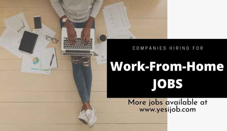 Work-From-Home Jobs Right Now