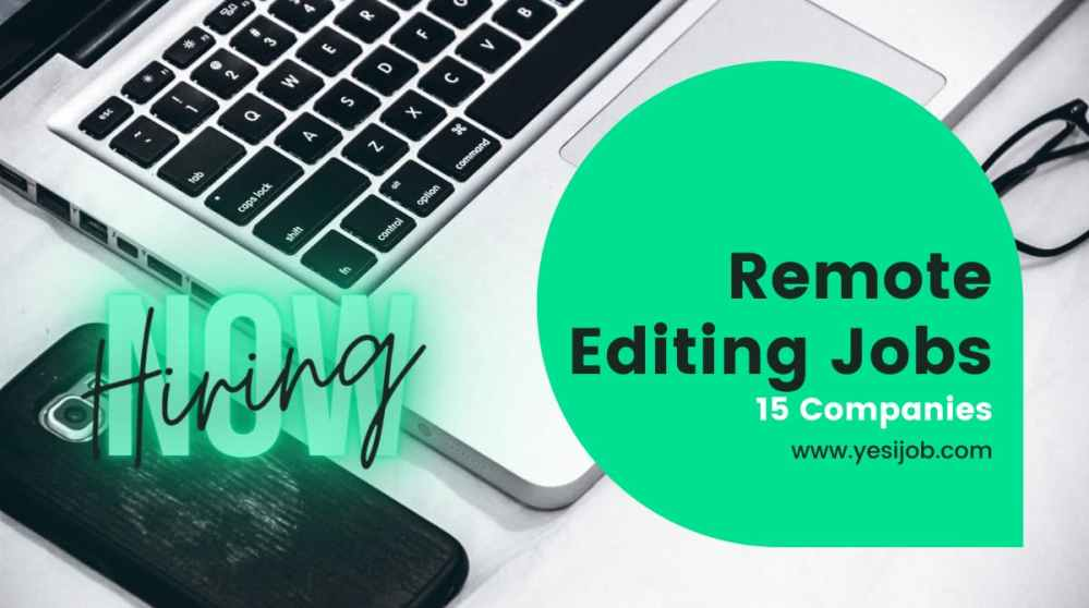 Remote Editing Jobs
