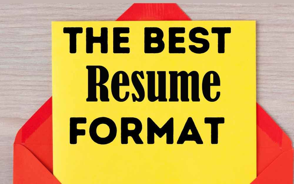 The Best Resume Format