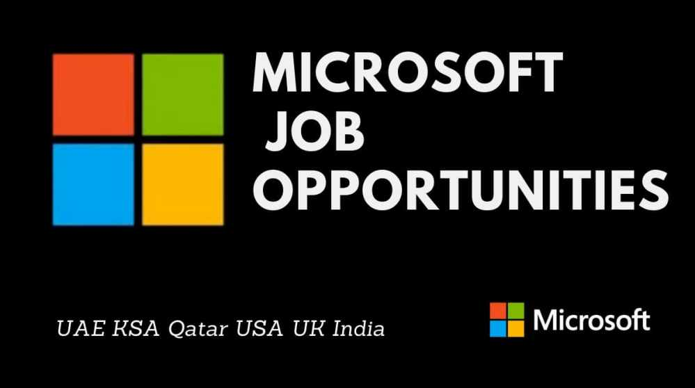Microsoft Job Vacancies