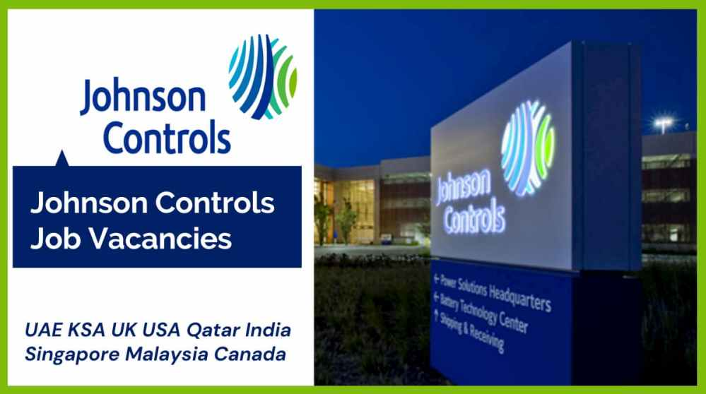 Johnson Controls Job Vacancies