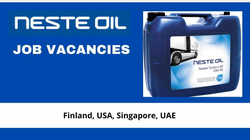 Neste Oil Job Vacancies