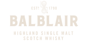 YesMore Social Media Agency client Balblair Whisky logo with transparent background