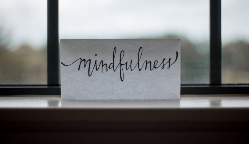 Nicely written typography of the word 'Mindfullness' for World Mental Health Day