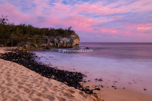 Shipwrecks Beach bei Sonnenuntergang