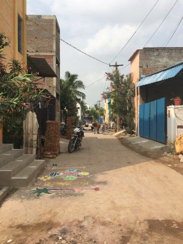 Roads of the shanty town