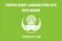 Contoh Surat Lamaran CPNS Kota Bogor