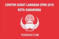Contoh Surat Lamaran CPNS Kota Samarinda