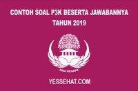 Contoh Soal P3K Beserta Jawabannya 2019