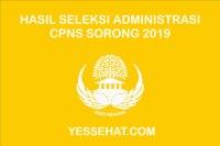 Pengumuman Hasil Seleksi Administrasi CPNS Sorong 2019