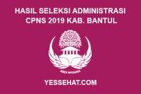 Hasil Seleksi Administrasi CPNS Kabupaten Bantul Tahun 2019