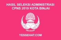 Hasil Seleksi Administrasi CPNS Kota Binjai Tahun 2019