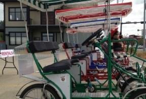 Four wheel bike rental business - 4-wheel Surrey quadricycles bikes