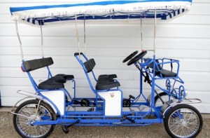 double bench quadricycle six seater Surrey Bike