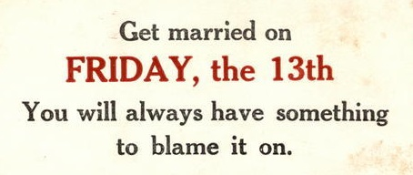 Get Married on Friday, the 13th