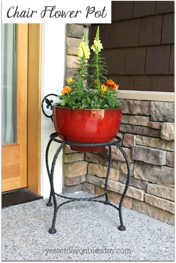 How to make a flower  planter from a chair.