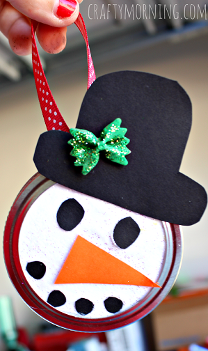 Mason Jar Snowman Craft Ideas