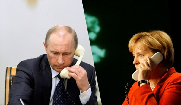 Putin and Merkel discussed Ukrainian crisis and the supply of Russian gas to Europe