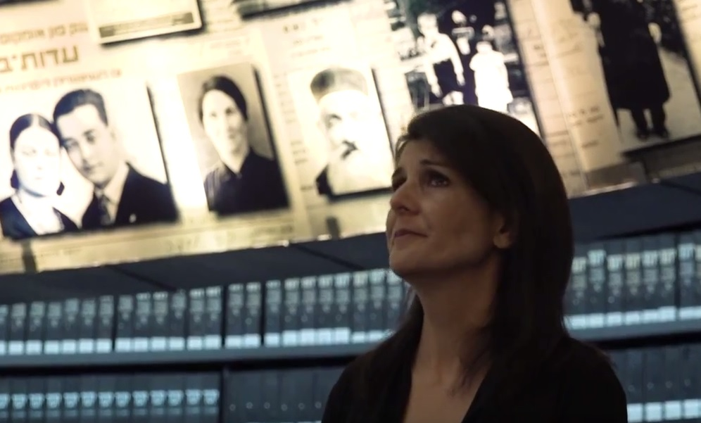 The United States Ambassador to the United Nations, Nicky Hailey, visited Yad Vashem and was moved to tears