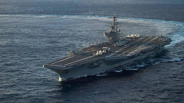 A HUGE US AIRCRAFT CARRIER WILL SOON DOCK IN HAIFA